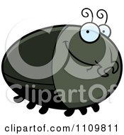 Clipart Grinning Beetle Royalty Free Vector Illustration by Cory Thoman