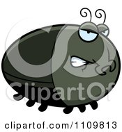 Clipart Angry Beetle Royalty Free Vector Illustration by Cory Thoman