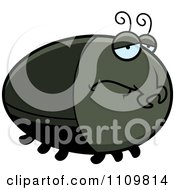 Clipart Depressed Beetle Royalty Free Vector Illustration