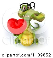Clipart 3d Crocodile Wearing Shades And Holding A Thumb Up Royalty Free CGI Illustration