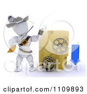 Clipart 3d Illegal Movie Download Pirate White Character With A Folder And Film Reels Royalty Free CGI Illustration
