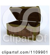 Clipart 3d Wood Pirate Treasure Chest Royalty Free CGI Illustration by KJ Pargeter