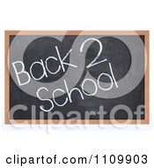 Clipart 3d Black Board With Back 2 School Text Royalty Free CGI Illustration