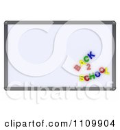 Clipart 3d White Board With Back To School Magnets Royalty Free CGI Illustration