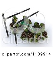 Clipart 3d Tortoises Working At A Race Car Pit Stop Royalty Free CGI Illustration