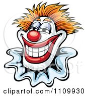 Clipart Happy Smiling Clown Royalty Free Vector Illustration by Vector Tradition SM