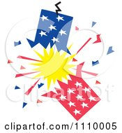 Clipart Patriotic American Fourth Of July Firecracker Royalty Free Vector Illustration by Johnny Sajem