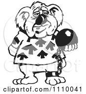 Clipart Black And White Aussie Koala Prisoner Royalty Free Vector Illustration