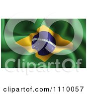 Clipart Crumpled Brazilian Flag Royalty Free Vector Illustration
