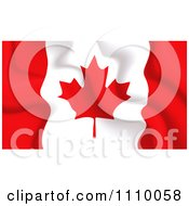 Clipart Crumpled Canadian Flag Royalty Free Vector Illustration