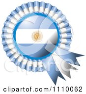 Clipart Shiny Argentina Flag Rosette Bowknots Medal Award Royalty Free Vector Illustration by MilsiArt