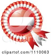 Clipart Shiny Austrian Flag Rosette Bowknots Medal Award Royalty Free Vector Illustration by MilsiArt