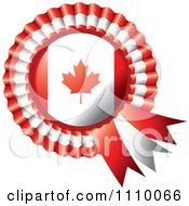 Clipart Shiny Canadian Flag Rosette Bowknots Medal Award Royalty Free Vector Illustration by MilsiArt