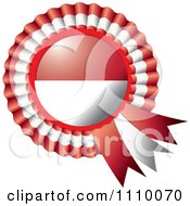 Clipart Shiny Indonesia Flag Rosette Bowknots Medal Award Royalty Free Vector Illustration by MilsiArt