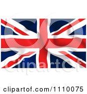 Clipart Crumpled British UK Flag Royalty Free Vector Illustration