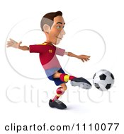 Clipart 3d White Spanish Soccer Player 1 Royalty Free CGI Illustration