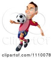 Clipart 3d White Spanish Soccer Player 2 Royalty Free CGI Illustration