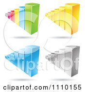 Clipart 3d Statistic Bar Graphs Royalty Free Vector Illustration by cidepix
