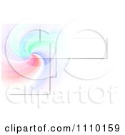Clipart Colorful Swirl With Rectangles On White Royalty Free Illustration by oboy