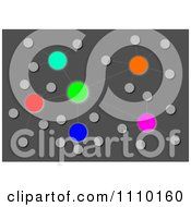Clipart Colorful Cluster Network Over Gray Royalty Free Illustration