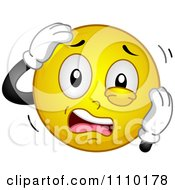Clipart Yellow Smiley Stressing Out Royalty Free Vector Illustration