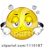 Clipart Yellow Smiley With An Annoyed Expression Royalty Free Vector Illustration