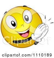 Clipart Yellow Smiley Clapping Royalty Free Vector Illustration