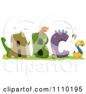 Clipart Alphabet Dinosaurs With ABCs Royalty Free Vector Illustration