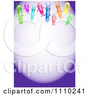Clipart Happy Alien Balloons With Copyspace On Purple Royalty Free Illustration