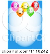 Clipart Happy Party Balloons And Copyspace On Blue Royalty Free Illustration