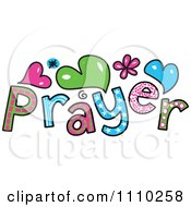Clipart Colorful Sketched Prayer Text Royalty Free Vector Illustration by Prawny