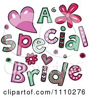 Clipart Colorful Sketched A Special Bride Text 1 Royalty Free Vector Illustration by Prawny