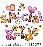 Clipart Colorful Sketched A Special Bride Text 2 Royalty Free Vector Illustration by Prawny