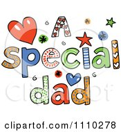 Clipart Colorful Sketched A Special Dad Text Royalty Free Vector Illustration by Prawny