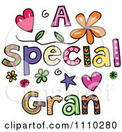 Clipart Colorful Sketched A Special Gran Text Royalty Free Vector Illustration
