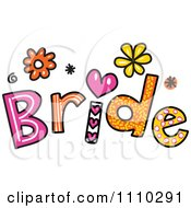 Clipart Colorful Sketched Bride Text Royalty Free Vector Illustration by Prawny