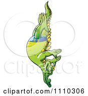 Clipart Athletic Swimmer Alligator High Diving Royalty Free Vector Illustration