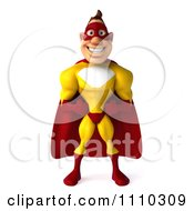 Clipart 3d Super Hero Man In A Red And Yellow Costume 1 Royalty Free CGI Illustration