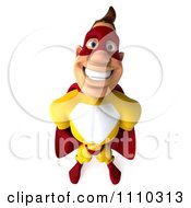 Clipart 3d Super Hero Man In A Red And Yellow Costume 2 Royalty Free CGI Illustration