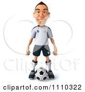 Clipart 3d White German Soccer Player 1 Royalty Free CGI Illustration