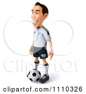 Clipart 3d White German Soccer Player 2 Royalty Free CGI Illustration by Julos