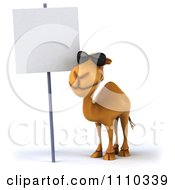 Clipart 3d Camel Wearing Sunglasses By A Sign 3 Royalty Free CGI Illustration