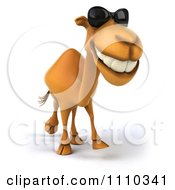 Clipart 3d Camel Wearing Sunglasses And Walking 2 Royalty Free CGI Illustration