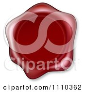Clipart 3d Embossed Red Wax Seal Royalty Free Vector Illustration by AtStockIllustration
