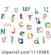 Clipart Abstract Colorful Letters A Through Z 7 Royalty Free Vector Illustration