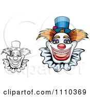 Clipart Friendly Happy Clowns Royalty Free Vector Illustration by Vector Tradition SM