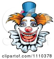 Clipart Friendly Happy Clown Royalty Free Vector Illustration by Vector Tradition SM