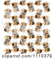Clipart Seamless Background Pattern Of Chocolate Bars And Coffee Cups Royalty Free Vector Illustration