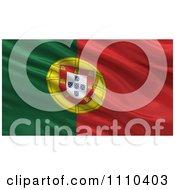 Clipart 3d Waving Flag Of Portugal Rippling And Waving Royalty Free CGI Illustration
