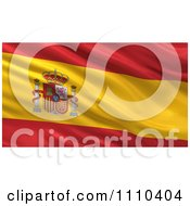 3d Waving Flag Of Spain Rippling And Waving by stockillustrations